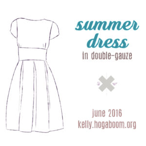 summer dress in double-gauze sew-along