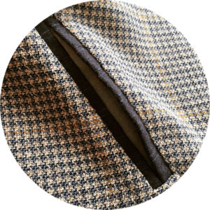 vegan tailor, double welt pocket